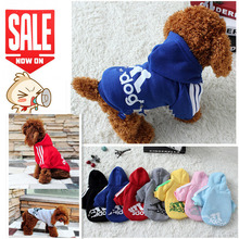 Dog Clothes Pets Coats Soft Cotton Puppy Dog Clothes Adidog Hoodies Clothes For Dog New 2016