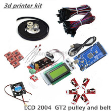 ramps kit Gt2 pulley RAMPS 1.4 Mega2560 rev3 5pcs A4988 6pcs Endstops Cooler Fan 3d printer kit reprap