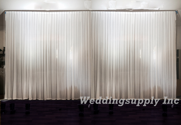 White Wedding Backdrop 3m high by 6m wide(10feet by 20feet) Wedding Curtain Cheap Price(China (Mainland))