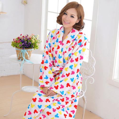 Winter thickening coral fleece robe men's women's lovers bathrobe sleepwear lounge - Online Store 617510 store