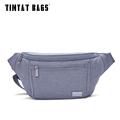 TINYAT Male Men Waist Bag Packs Casual Waterproof Nylon Fanny Pack Bag Shouder Light Coin Phone