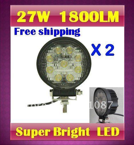 Hot koop 2x27 w led verlichting tractor spot dag fog lamp for Tractor verlichting
