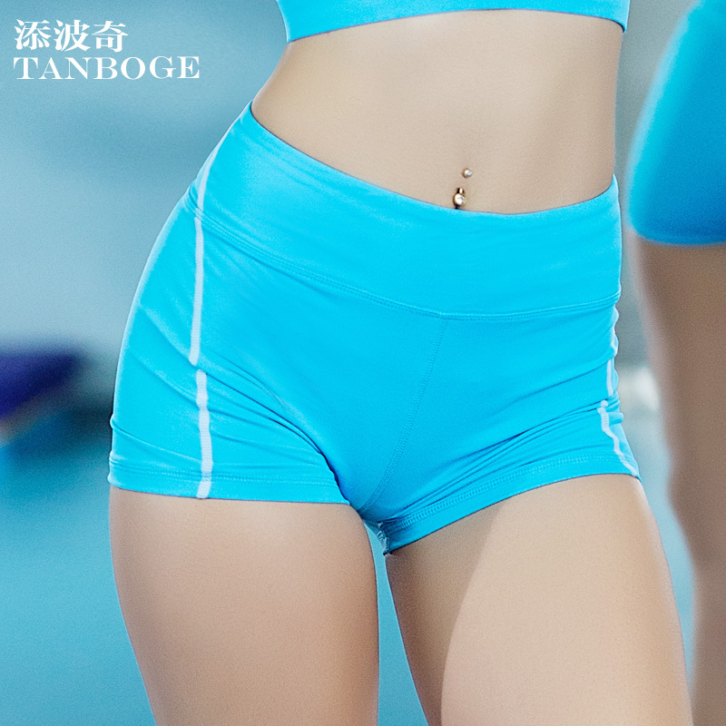 TANBOGE High Waist Sports Shorts Pants Fitness Yoga