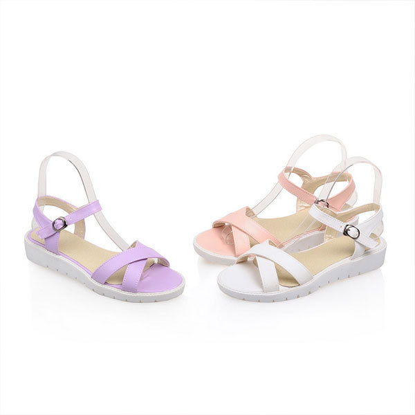 FREE SHIPPING new arrives fashion comfortable bottom wedge heels female candy color wedge heels sweet open toe sandals D2648<br><br>Aliexpress