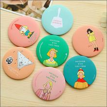 2016 Colorful Pocket  Mirror Sweet Cartoon Portable Small Mirror Mini Makeup Mirror Gift home decoration accessories(China (Mainland))