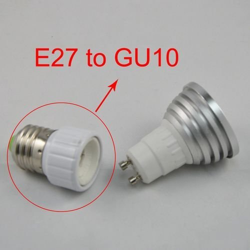 15pcs/lot,ABS Led Lamp Bases GU10 Socket,E27 to GU10 Adapter Converter Base holder socket for LED Light Led Lamp