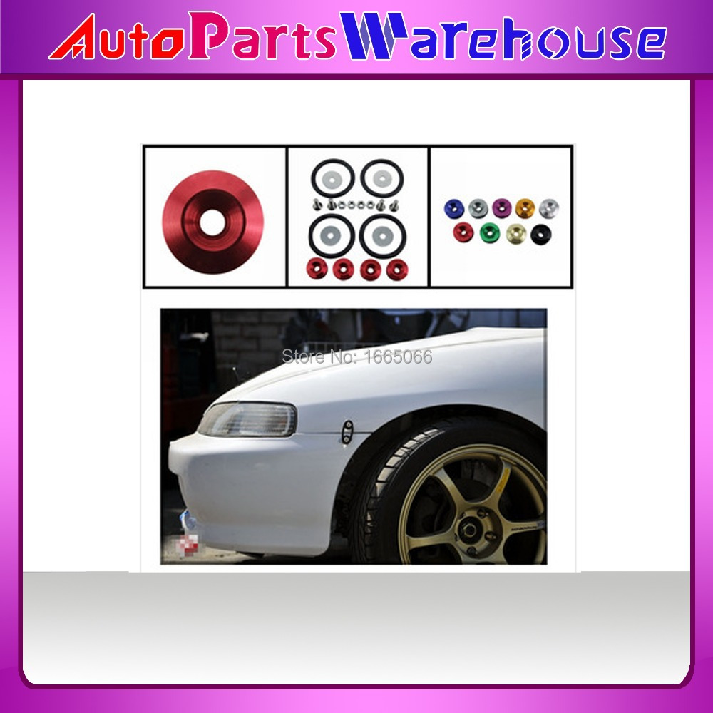 JDM Fender Washer Aluminum Fender Washers Quick Release Fasteners Washers Fits all vehicle(China (Mainland))