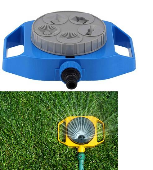 Plastic Spray Nozzle 5-Function Sprinkler Garden Automatic Rotation Watering Head Plants Watering Gardening Supplies(China (Mainland))