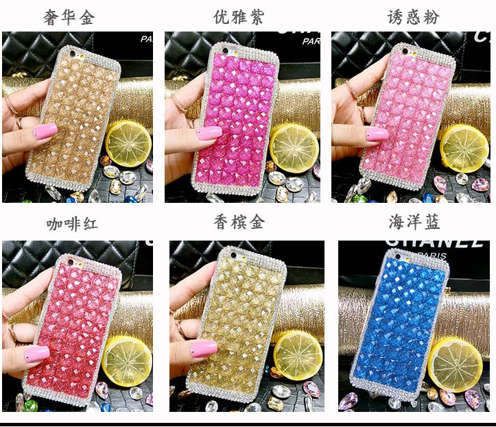 wholesale factory price new luxury bling phone bagFor Alcatel idol 3 4.7 case cover For apple DIY Diamond mobile back cover(China (Mainland))