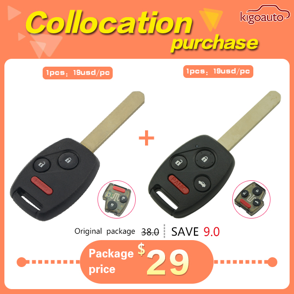 Remote key 313.8 Mhz with ID46 chip for Honda accord 2003 2004 2005 2006 2007 OUCG8D-380H-A(China (Mainland))