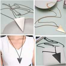 1PCS Punk Jewelry Fashion Gem Triangle Retro Long Pendant Sweater Chain Necklace Hot Free Shipping