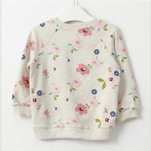 2016 new autumn girls children s clothing casual short girls sweatshirts collar fresh flowers full sleeved