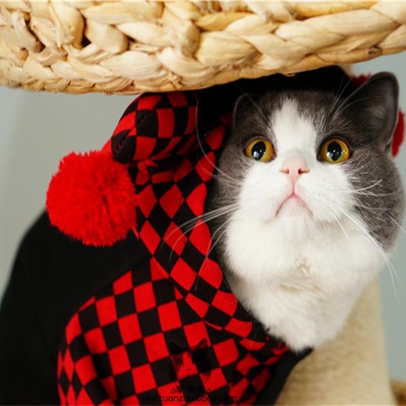 Праздничная pet собаки кошки Хэллоуин костюмы зимняя одежда для кошек pet одежда комбинезон пижамы клоун стиль ropa пункт moscotas 05