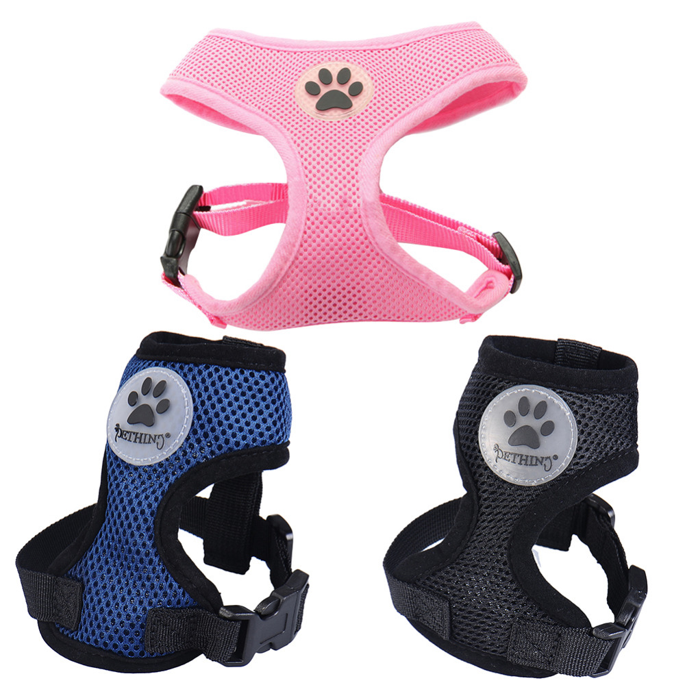 Soft Air Mesh Padded Dog Harness Harness With Soles Printed Lovely Pet Harness Pets Animals Dogs Harnesses Pets Supplies(China (Mainland))