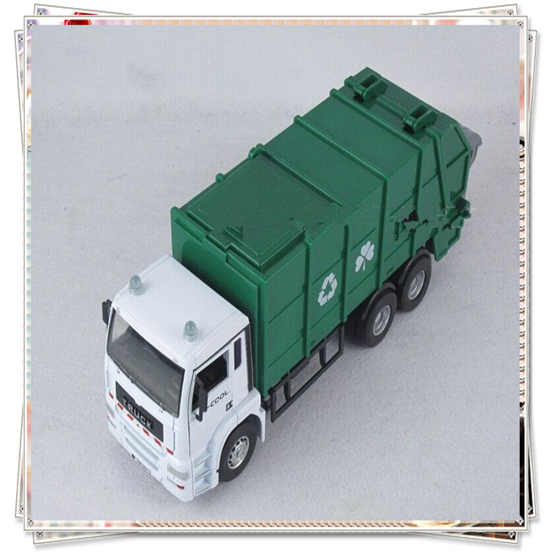 Toy garbage truck scale models kids toys cars miniatures hotwheels toy cars styling cheap toys modelador 1/ 43 model car tipper(China (Mainland))