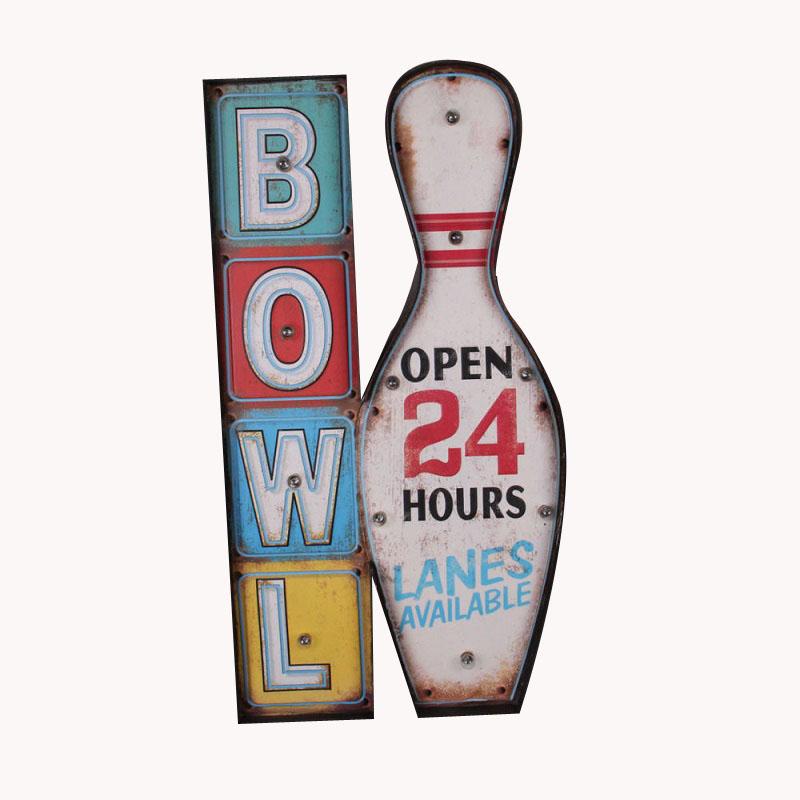 Bowling american retro style styling wrought iron - Decoracion retro americana ...