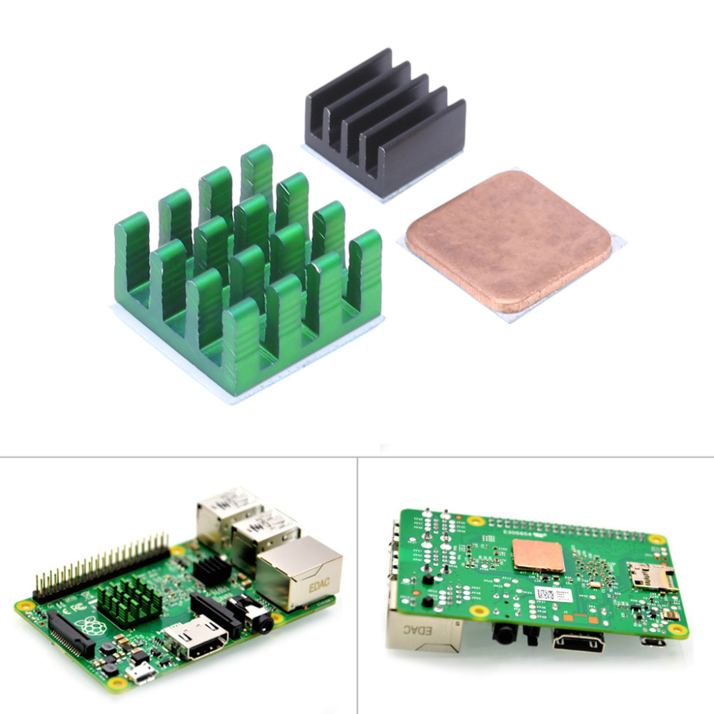 Raspberry Pi 3 Model B Aluminum Heat Sink + Bracket Raspberry Pi RPI Sink Cooling CPU Copper Heat Sink 2(China (Mainland))