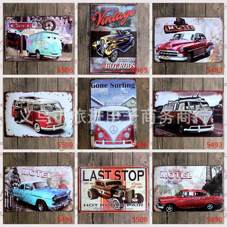 Zakka Metal Craft Tin Retro Painting sign Vintage Wall Metal Painting Bar/Home Art Decor Iron Picture 20x30cm car bus motorcycle(China (Mainland))