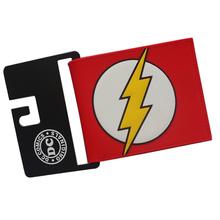 Buy DC Comic Flash 3D PVC&PU Leather Wallets Cartoon Purse Short Slim Light Bifold Dollars Cards Holder Men Purse Boy Wallets for $3.99 in AliExpress store