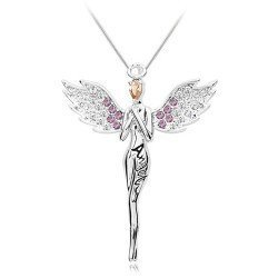 2504 Fashion full Angel wings drill Angel necklace 2012 popular classic Mixed colors Free shipping<br><br>Aliexpress