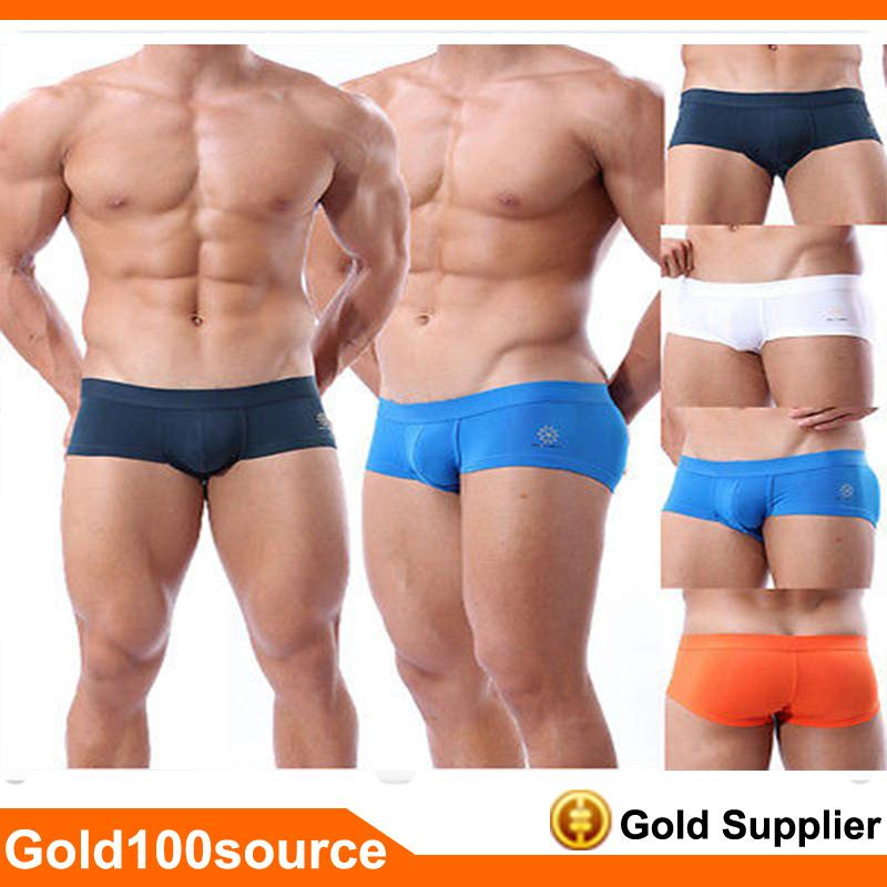 Mens Sports Swimwear Boxers Trunks Underwear Shorts Men Sexy Boxers Mens Brand Boxer Gay Underwear 4 Color Size S M L New 2015(China (Mainland))