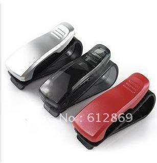Free shipping Car glasses clip/Sun Visor Glasses Card Pen Holder Clip four colors #A0016