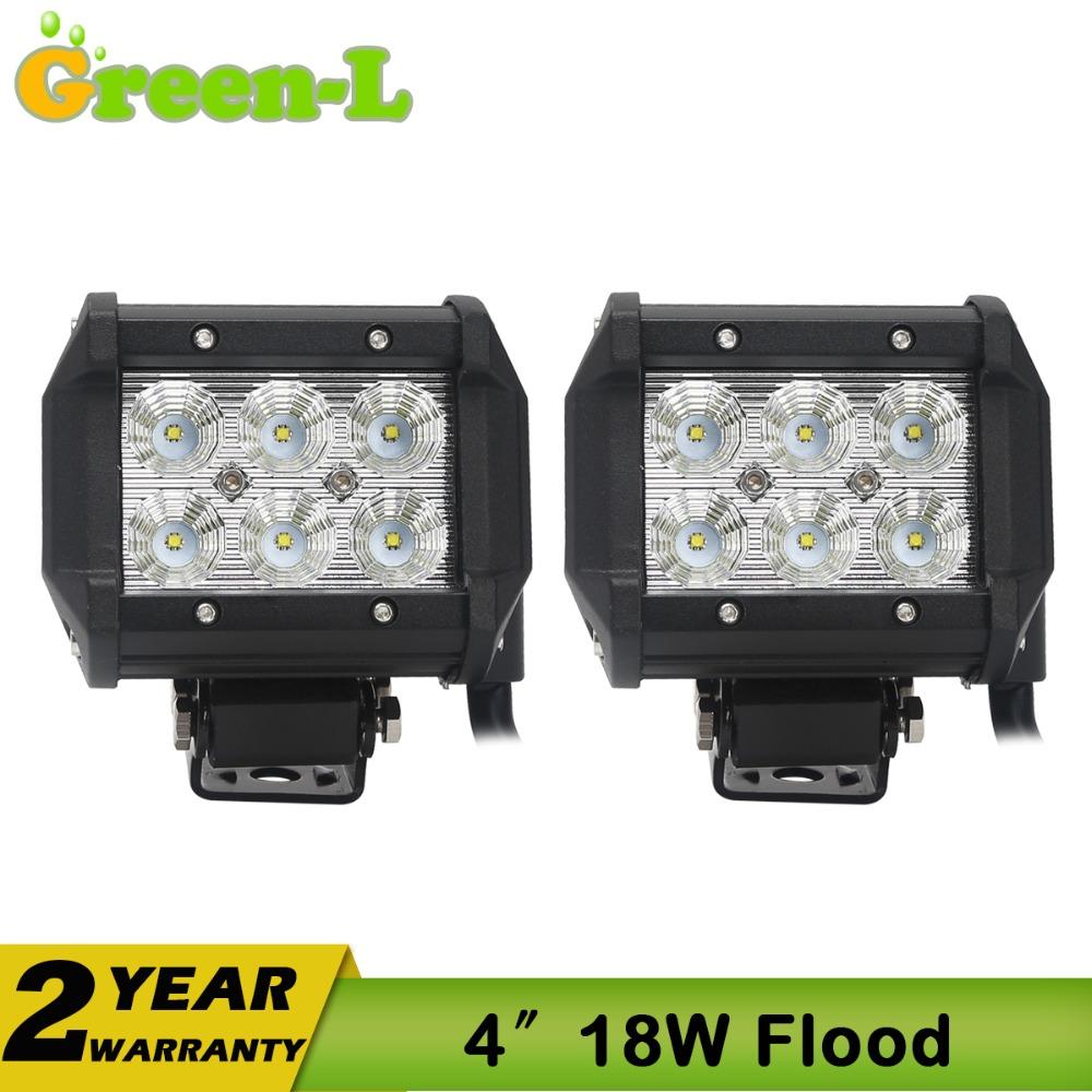 "2pcs 4"" Inch Cree LED Work Light Bar Lamp LED Headlights 18W Tractor Boat Off-Road 4WD 4x4 12v 24v Truck SUV ATV Spot Flood(China (Mainland))"