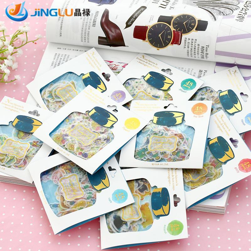 DIY Scrapbooking Paper Kawaii Drift Bottles Stickers Wedding Bronzing Crafts Paper # Q-LIA<br><br>Aliexpress