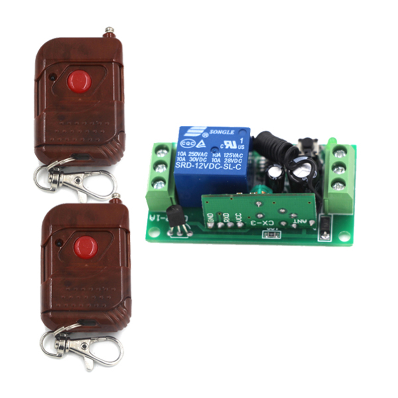1CH wireless remote control switch 315mHZ 433mHZ RF transmitter Reiceiver Controller 1key learning code 4104(China (Mainland))