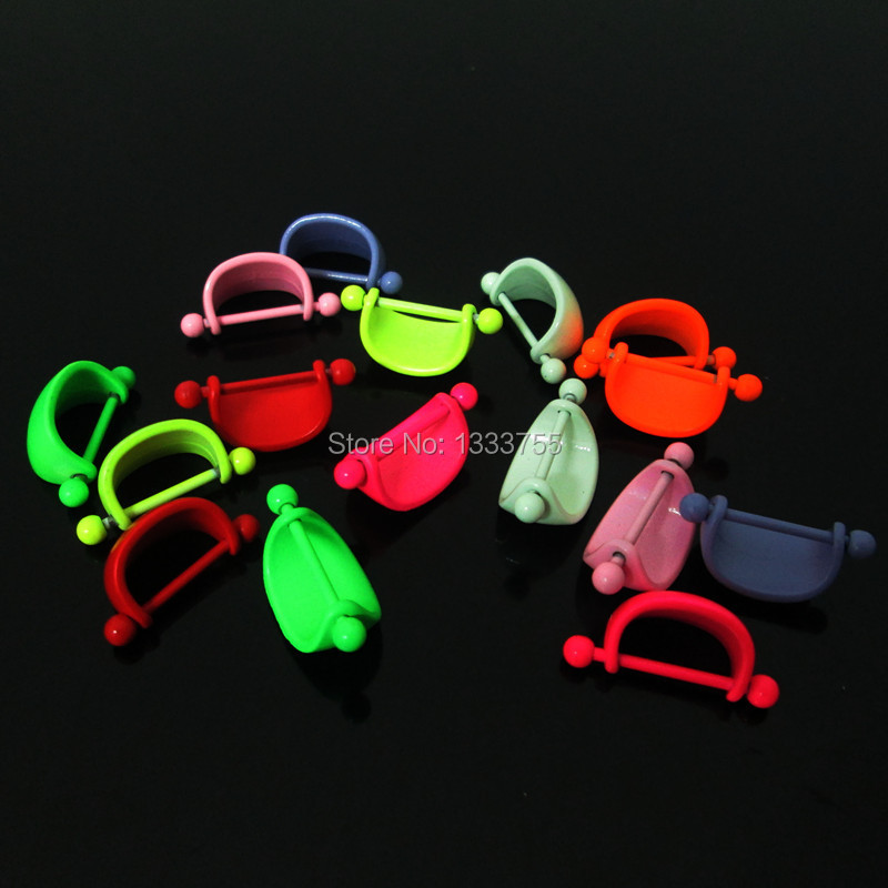 High quality piercing 1Pair mixed colors stainless steel ARC shape neon colors piercing nipple ring New(China (Mainland))
