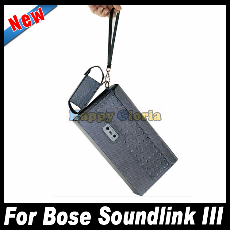 2 in 1 Portable Carry Pouch Bag Protective Cover Case For Bose Soundlink III 3 Bluetooth Speaker With Charger Bag Free Shippment(China (Mainland))