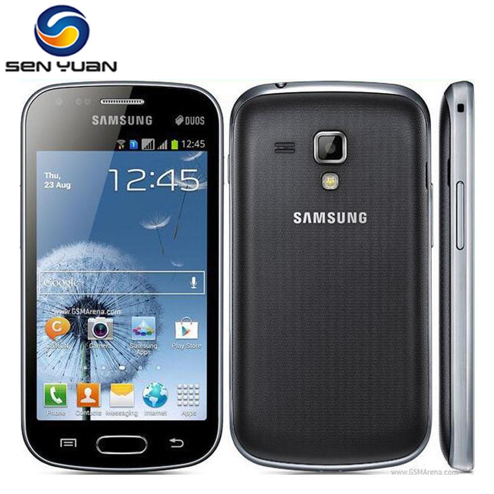 Original Samsung Galaxy S Duos S7562 cell phone 4.0''Screen 3G WIFI GPS 5MP 4GB Dual Sim mobile phone Free Shipping(China (Mainland))