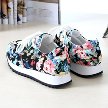 Sneakers women 2015 zapatos mujer floral sport printed canvas shoes women huaraches sneakers women shoes