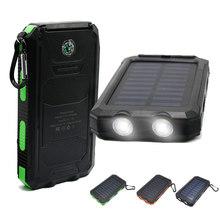 Solar Power Bank powerbank Charger 20000mah battery Universal Portable power bank High-Capacity External Sun solar charger(China (Mainland))