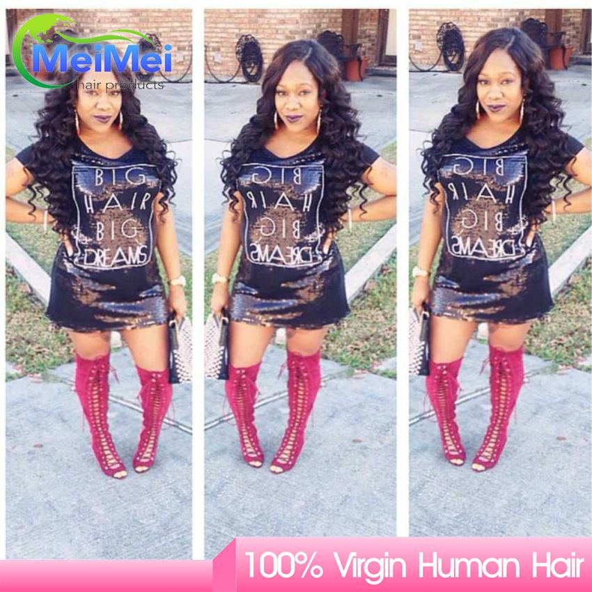 Queen Weave Beauty Ltd 3 Bundles European Loose Deep Human Hair Extensions 100% Human Virgin Hair European Big Deep Loose<br><br>Aliexpress