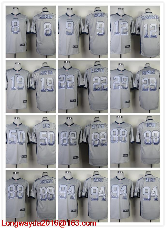 100% Stitiched,Dallas Cowboys,Tony Romo,Emmitt Smith,Sean Lee,Jason Witten,Dez Bryant,Miles Austin,Troy Aikman fashion styles(China (Mainland))