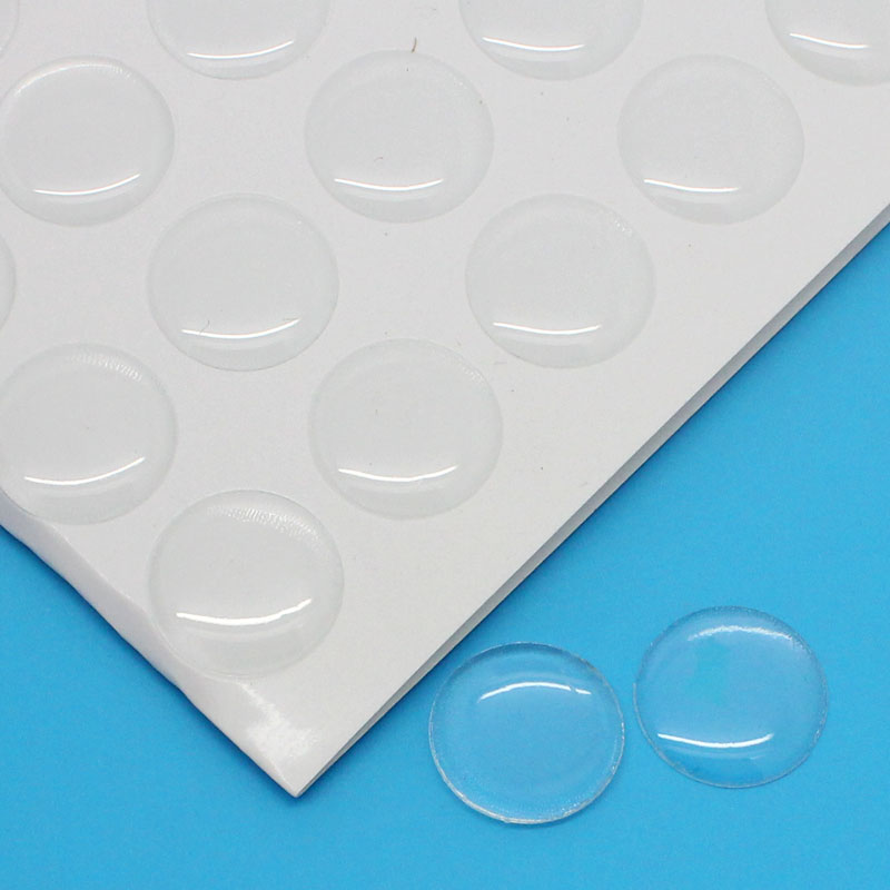 Hot Sale 1 Sheet(approx 140Pcs) Resin Sticker Round Cobochons Domes Clear 14mm Dia Free Shipping(China (Mainland))