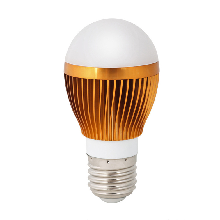 CE RoHS Guaranteed Quality High Lumens Golden LED Globe Bulb 3W Spot Lamp Warm/Cold White AC220V Round Lights For Table Lamp(China (Mainland))
