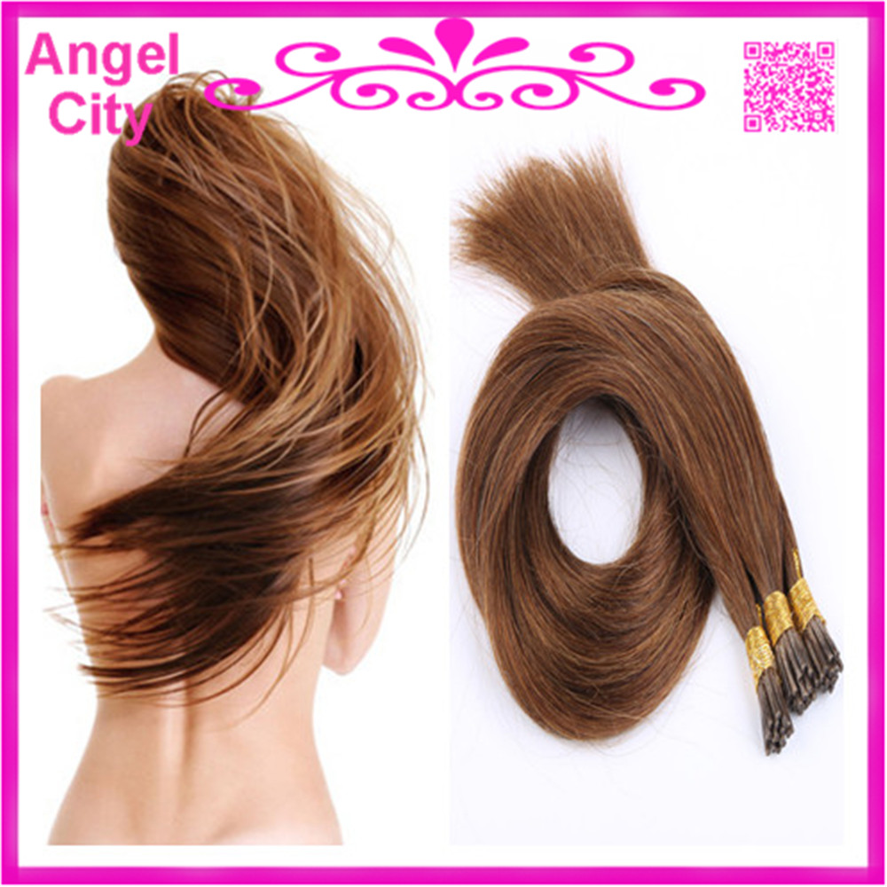 """8A 18""""-28"""" Pre-Bonded Stick Tip Hair Extension I tip Keratin Remy Human hair 1G/S 100G/PC 300G/LOT In STOCK Free Shipping(China (Mainland))"""