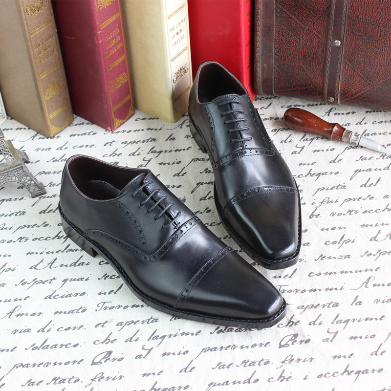 Goodyear hand-carved leather mens shoes genuine leather men wedding shoes custom-made men dress shoes leather bottom<br><br>Aliexpress