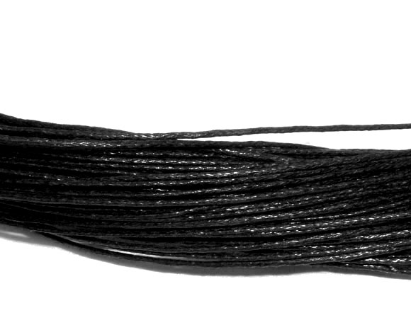 80M Wholesale Black Waxed Cotton Necklace Cord 1mm (B07405)8seasons(China (Mainland))