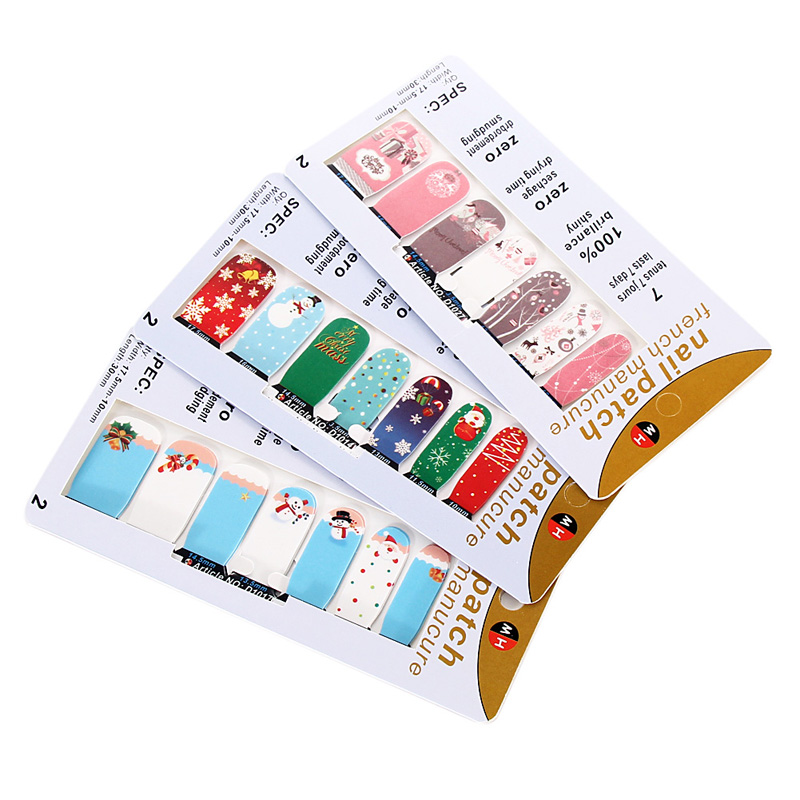 Colorful 3D Sparkle Christmas Pattern Nail Art Stickers DIY Nails Design Manicure Decoration Stickers K5BO(China (Mainland))