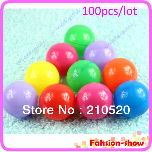 U95 inch 5.5cm Eco-Friendly Colorful Soft Plastic Ocean Wave Ball, Baby Funny Toys 10 - come here! store