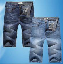 Wholesale Short Brand Casual Men Outdoors Jeans Shorts Summer Beach Wear Man Men'S Denim Board Shorts 2014 Fashion Thin Straight(China (Mainland))