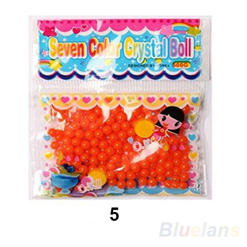 10bag lot Pearl shaped Crystal Soil Water Beads Mud Grow Magic Jelly balls wedding Home Decor