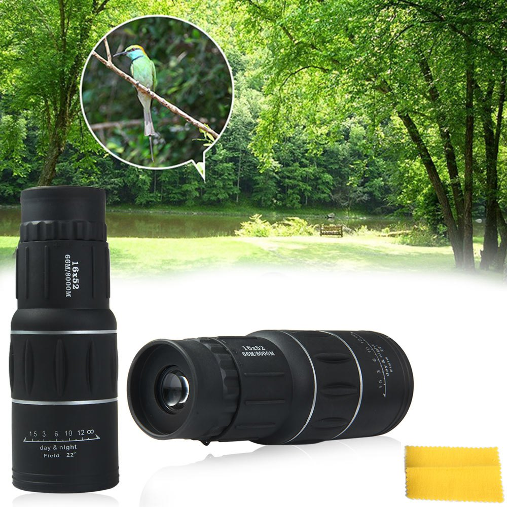 Гаджет  Dual Focus 16x52mm HD Zoom Optics Telescope Handy Scope Sports Camping Optic Lens Armoring Monocular Tourism Scope Binoculars None Инструменты