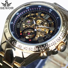 SEWOR Luxury Brand sports Business Men Wrist Watches Automatic Mechanical Watch Military stainless steel Skeleton Watches reloj(China (Mainland))