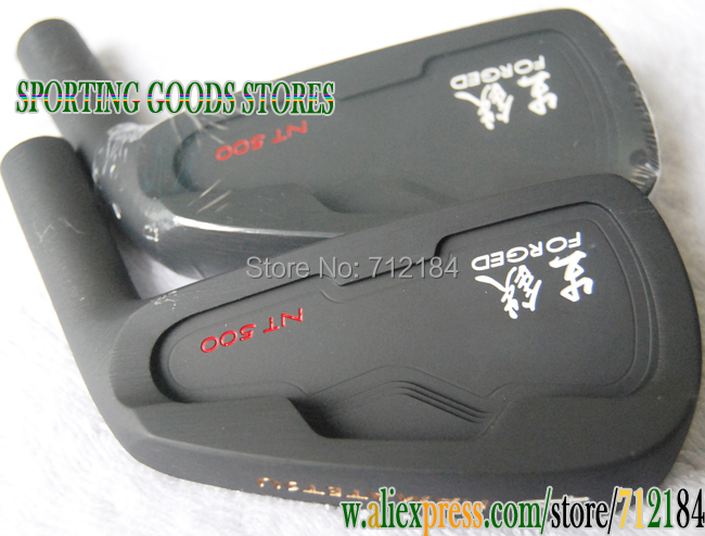 New golf Clubs Pig iron FORGED NT500 black Golf Irons Heads 4.5.6.7.8.9.P.wedges 52.56.60.(10pc)Golf Head(no shaft)Free Shipping(China (Mainland))