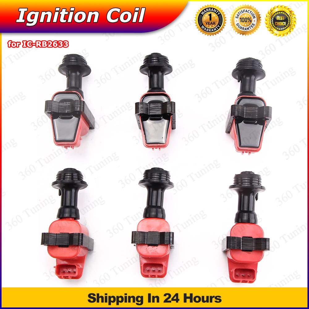Ignition Coils Coil Spark Coil Pack For Skyline R32 R33 RB20 RB25 RB26 DET S1 6Pcs/1 set h1 Pervformance(China (Mainland))