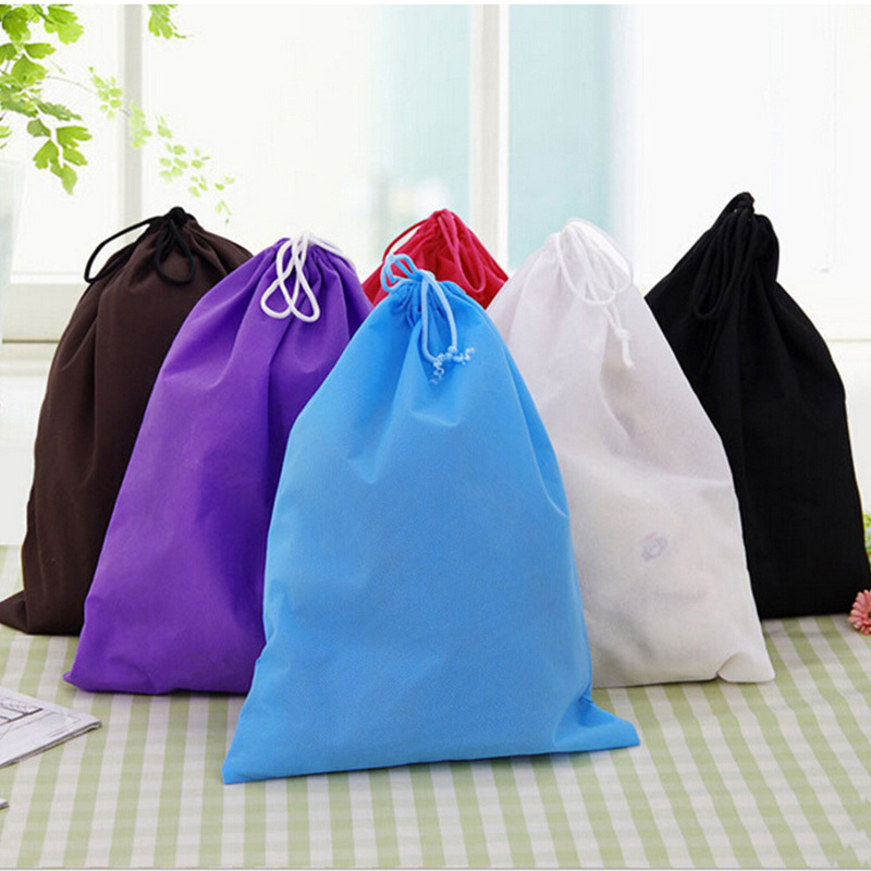 Thick Non-Woven Fabric Storage Bags Convenient Square Large Capacity Travel Bags Portable Shoe Bags Container 30*40cm 1 Piece LB(China (Mainland))